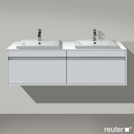 Duravit Ketho Waschtischunterschrank mit 2 Auszügen für 2 Einbauwaschtische Front weiß matt / Korpus weiß matt
