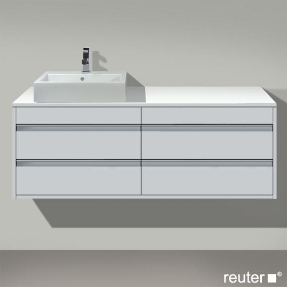 Duravit Ketho Waschtischunterschrank mit  4 Auszügen Front weiß matt / Korpus weiß matt