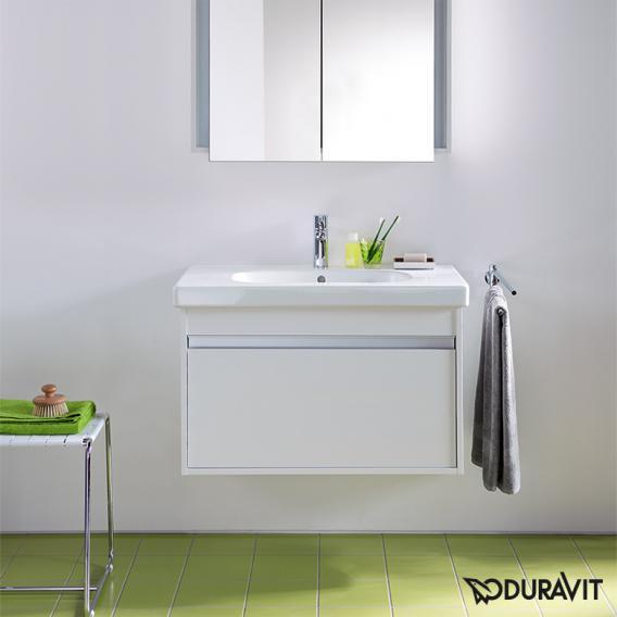 Duravit Ketho Waschtischunterschrank inkl. D-Code Waschtisch, wandhängend mit 1 Auszug Front weiß matt / Korpus weiß matt