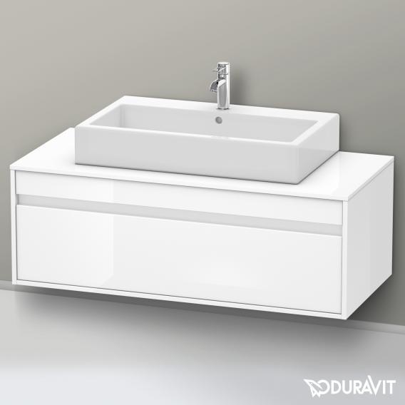 Duravit Ketho Waschtischunterschrank ohne Ausschnitt für Aufsatzwaschtisch Front weiß hochglanz / Korpus weiß hochglanz