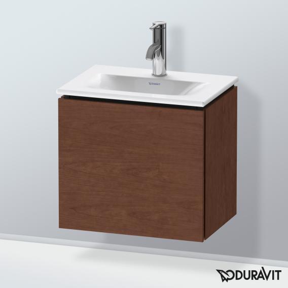 Duravit L-Cube Handwaschbeckenunterschrank mit 1 Tür Front amerikanischer nussbaum / Korpus amerikanischer nussbaum