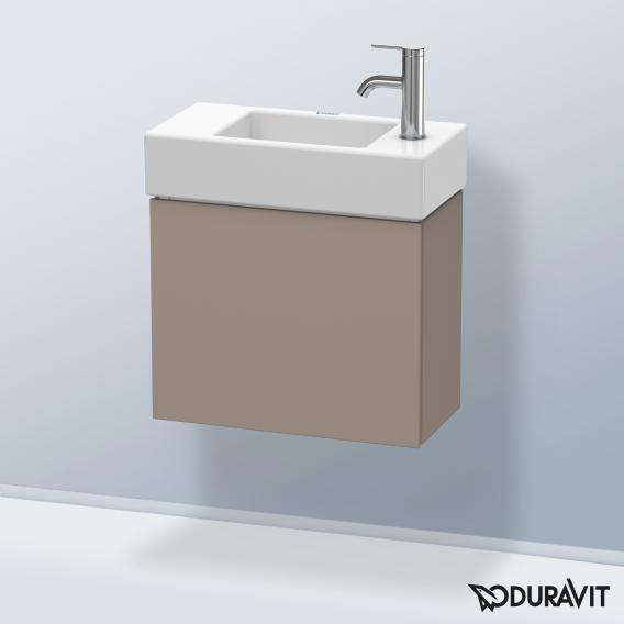 Duravit L-Cube Handwaschbeckenunterschrank mit 1 Tür Front basalt matt / Korpus basalt matt