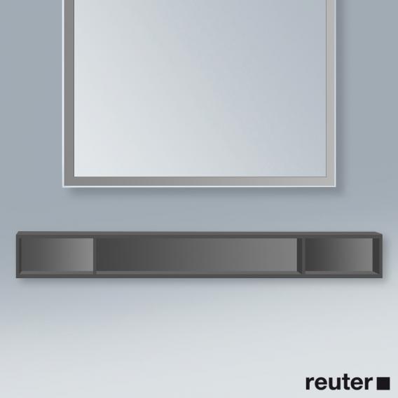 Duravit L-Cube Regalelement, horizontal graphit matt