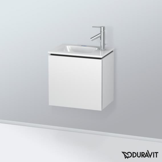 Duravit L-Cube Waschtischunterschrank mit 1 Tür Front weiß matt / Korpus weiß matt