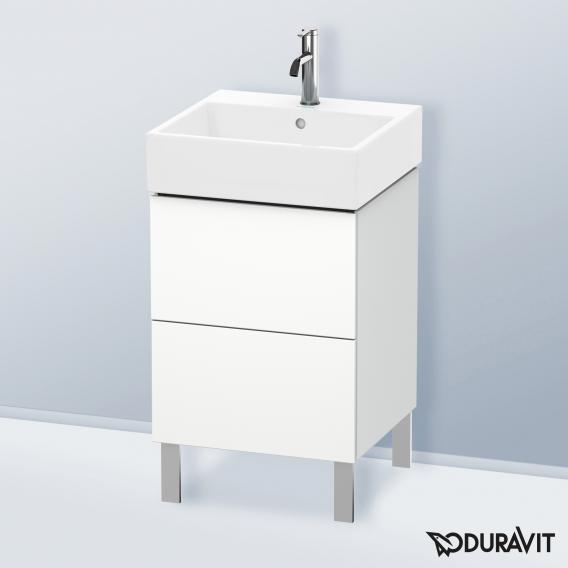 Duravit L-Cube Waschtischunterschrank mit 2 Auszügen Front weiß matt / Korpus weiß matt, ohne Einrichtungssystem