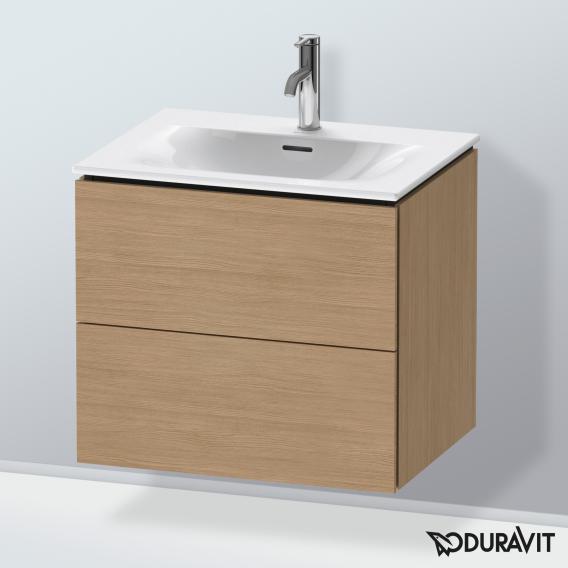Duravit L-Cube Waschtischunterschrank  mit 2 Auszügen Front europäische eiche / Korpus europäische eiche, ohne Einrichtungssystem