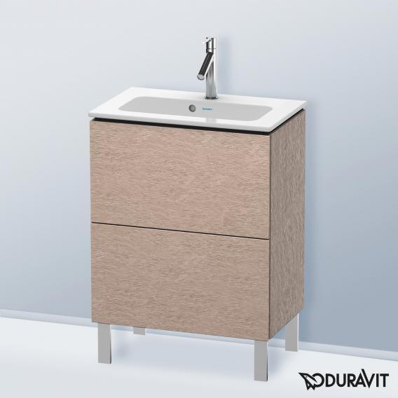 Duravit L-Cube Waschtischunterschrank Compact mit 2 Auszügen Front eiche kaschmir / Korpus eiche kaschmir, ohne Einrichtungssystem