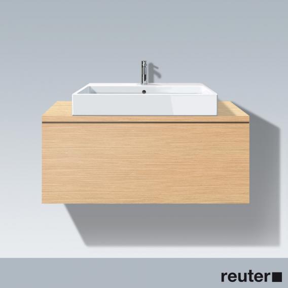 Duravit L-Cube Waschtischunterschrank für Konsole mit 1 Auszug Front eiche gebürstet / Korpus eiche gebürstet, ohne Einrichtungssystem