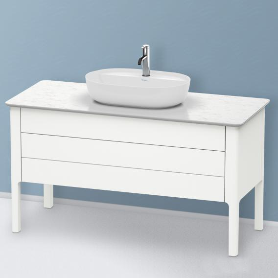 Duravit Luv Waschtischunterschrank für Konsole mit 2 Auszügen Front weiß seidenmatt / Korpus weiß seidenmatt, ohne Einrichtungssystem