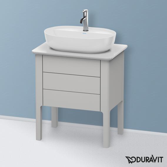 Duravit Luv Waschtischunterschrank für Konsole mit 2 Auszügen Front nordic weiß seidenmatt / Korpus nordic weiß seidenmatt