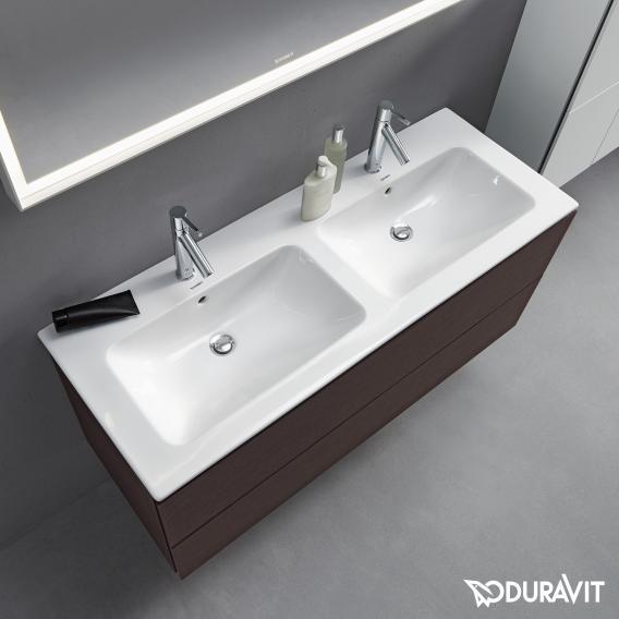 Duravit ME by Starck Doppel-Möbelwaschtisch weiß, mit WonderGliss, mit 2 Hahnlöchern
