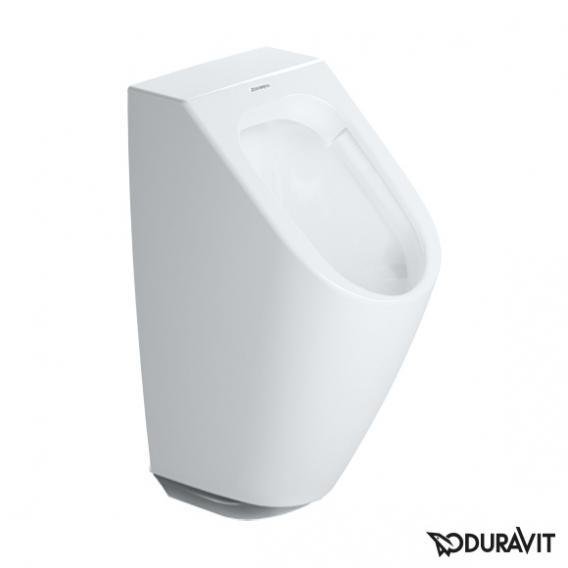 Duravit ME by Starck Elektronik-Urinal, rimless für Batterieanschluss weiß mit Fliege mit WonderGliss