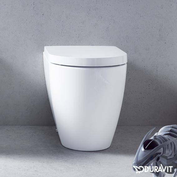 Duravit ME by Starck Stand-Tiefspül-WC back to wall weiß, mit WonderGliss
