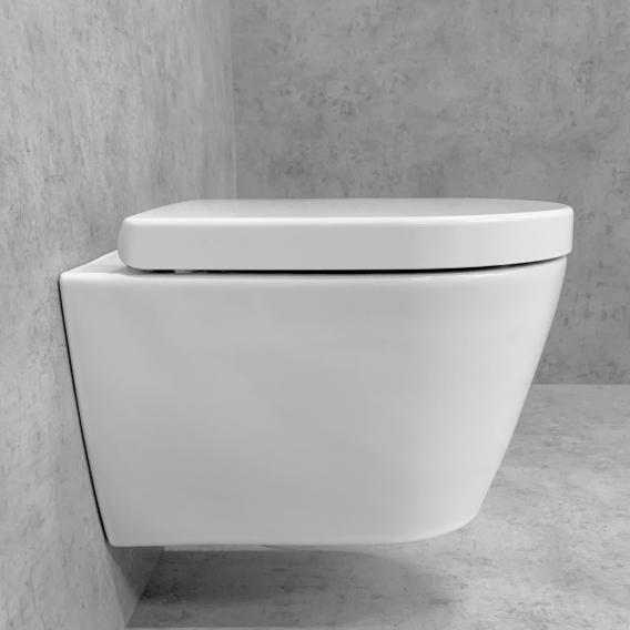 Duravit ME by Starck Wand-WC & Tellkamp Premium 4000 WC-Sitz SET kurz: WC ohne Spülrand weiß