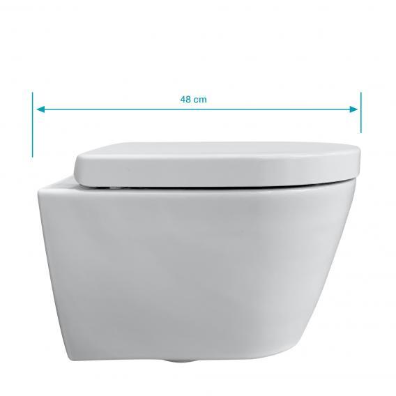 Duravit ME by Starck Wand-WC & Tellkamp Premium 4000 WC-Sitz SET kurz: WC ohne Spülrand weiß, mit HygieneGlaze