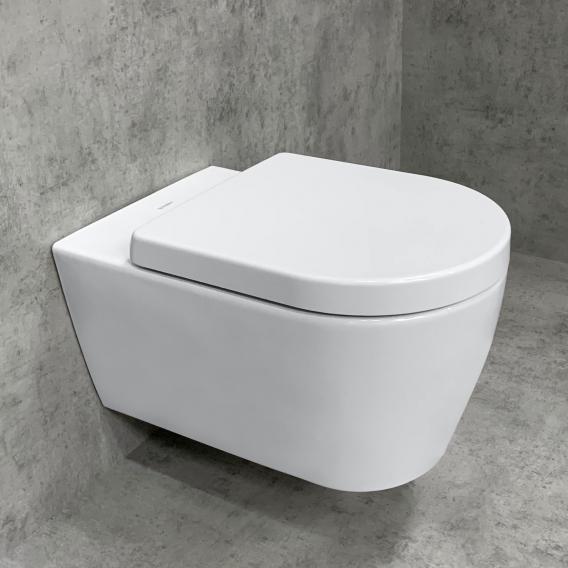 Duravit ME by Starck Wand-WC & Tellkamp Premium 4000 WC-Sitz SET: WC ohne Spülrand weiß