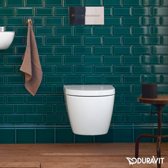 Duravit ME by Starck Wand-Tiefspül-WC Compact, rimless weiß, mit WonderGliss