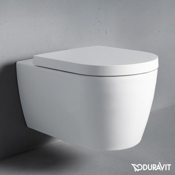 Duravit ME by Starck Wand-Tiefspül-WC Set, rimless, mit WC-Sitz weiß
