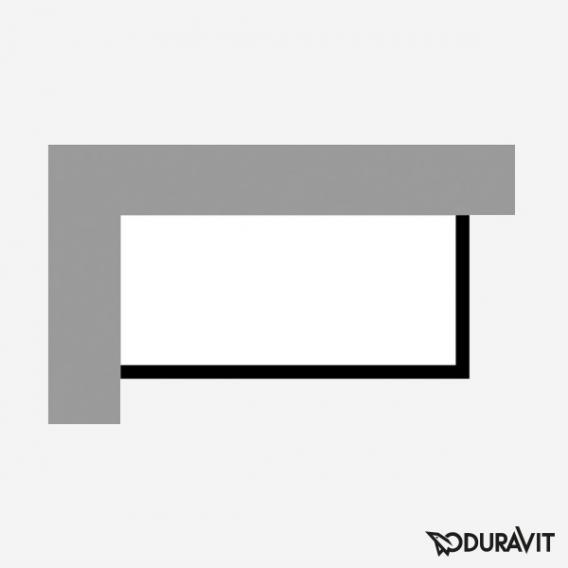 Duravit P3 Comforts Möbelverkleidung für Bade-/Whirlwanne, Ecke links
