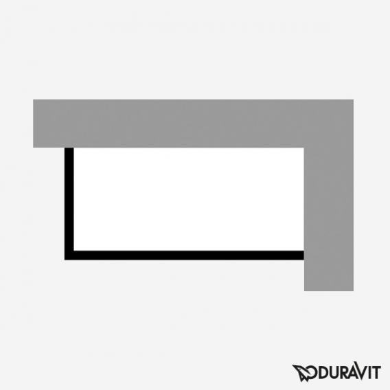 Duravit P3 Comforts Möbelverkleidung für Bade-/Whirlwanne, Ecke rechts