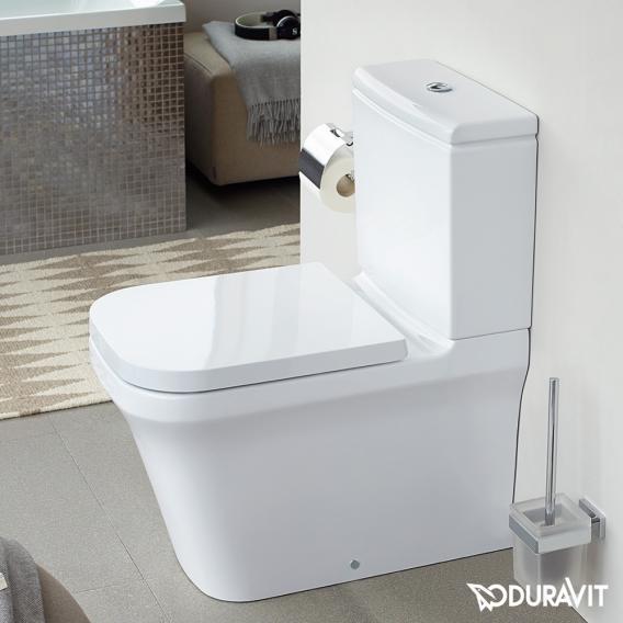 Duravit P3 Comforts Stand-Tiefspül-WC Kombination, rimless weiß mit HygieneGlaze