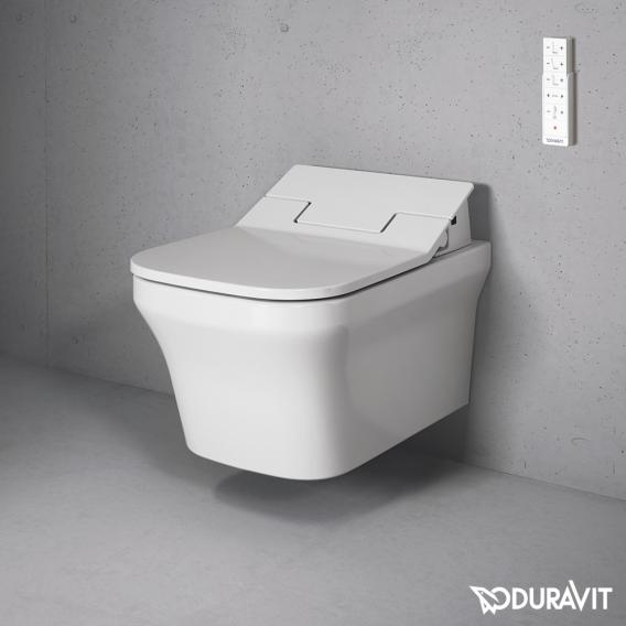 Duravit P3 Comforts Wand-Tiefspül-WC Rimless mit NEUEM SensoWash® Slim WC-Sitz, Set weiß