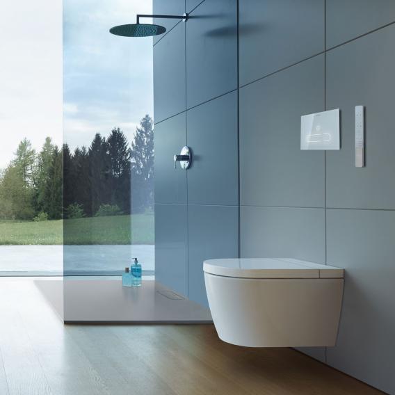 Duravit SensoWash® Starck f Plus Compact Dusch-WC Komplettanlage für Wandmontage, mit WC-Sitz ohne Zubehör