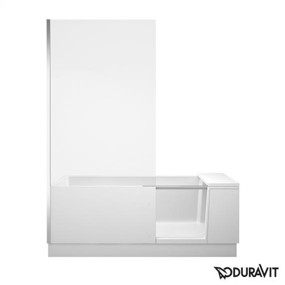 Duravit Shower + Bath Badewannne mit Duschzone, Eckeinbau links Klarglas