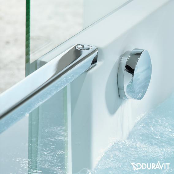 Duravit Shower + Bath Badewannne mit Duschzone, Eckeinbau Spiegelglas