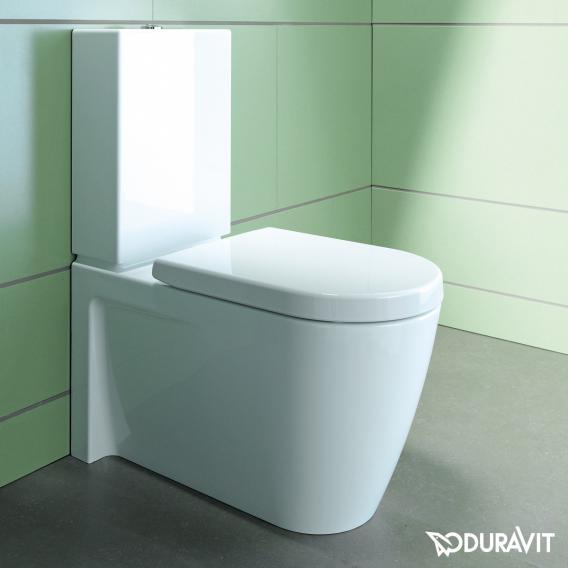 Duravit Starck 2 Stand-Tiefspül-WC Kombination weiß, mit WonderGliss