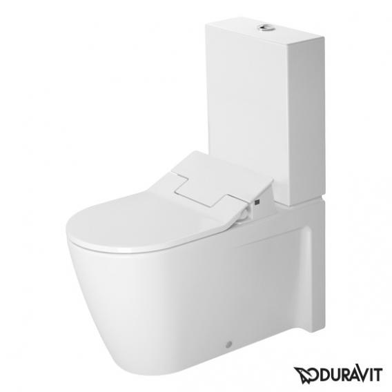 Duravit Starck 2 Stand-Tiefspül-WC Kombination mit NEUEM SensoWash® Slim WC-Sitz, Set weiß mit WonderGliss