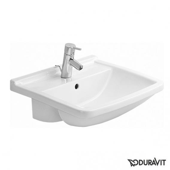 Duravit Starck 3 Halbeinbau-Waschtisch weiß, mit 1 Hahnloch, mit Überlauf