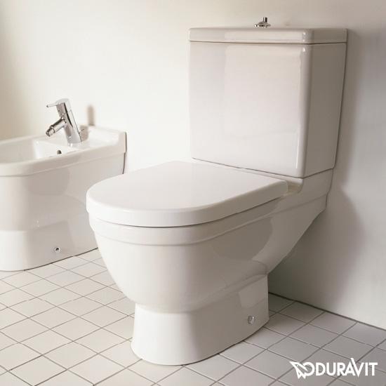 Duravit Starck 3 Stand-Tiefspül-WC für Kombination, Abgang senkrecht weiß