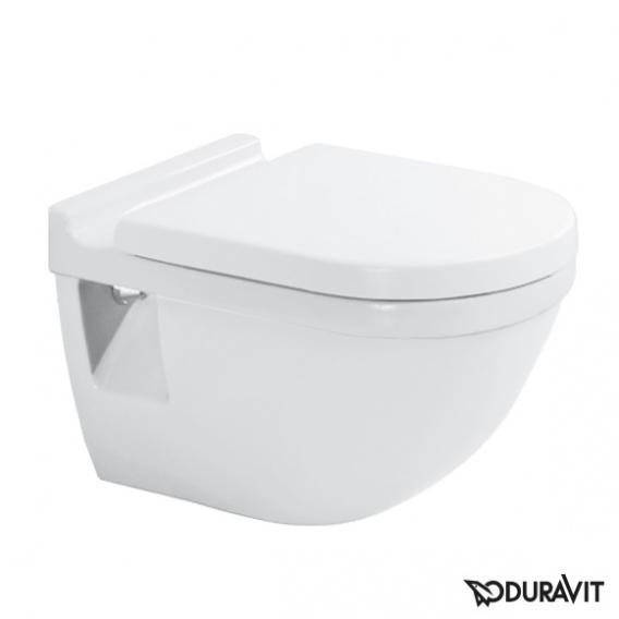 Duravit Starck 3 Wand-Flachspül-WC weiß, mit WonderGliss