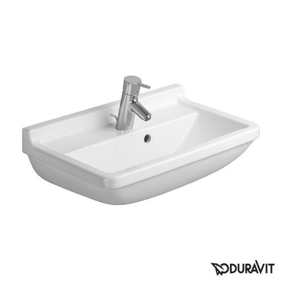 Duravit Starck 3 Waschtisch Compact weiß, mit 1 Hahnloch, mit Überlauf