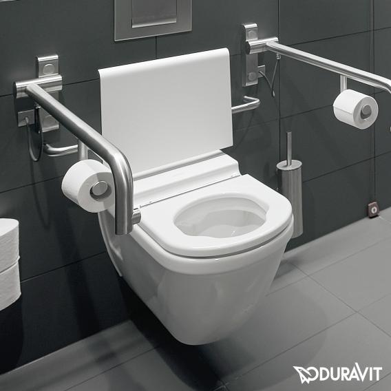 Duravit Starck 3 WC-Sitzring Vital weiß mit Scharniere edelstahl