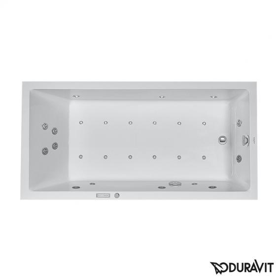 Duravit Starck Rechteck-Whirlwanne mit LED-Beleuchtung, Einbauversion oder Wannenverkleidung mit Combi-System E