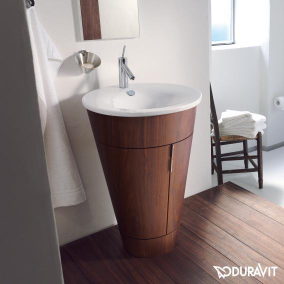 Duravit Starck Waschtischunterschrank für Einbauwaschtisch mit 2 Türen amerikanischer Nussbaum