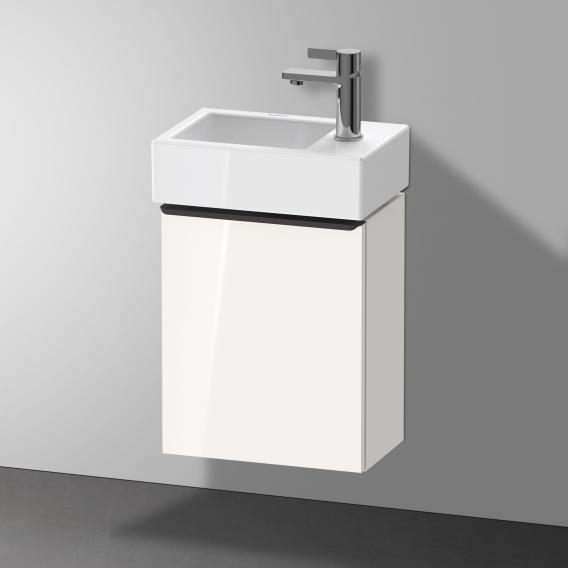 Duravit Vero Air Handwaschbecken mit D-Neo Waschtischunterschrank mit 1 Tür Front weiß hochglanz / Korpus weiß hochglanz, WT weiß, mit WonderGliss