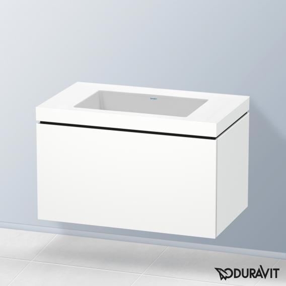 Duravit Vero Air Waschtisch mit L-Cube Waschtischunterschrank mit 1 Auszug weiß matt, ohne Einrichtungssystem, ohne Hahnloch