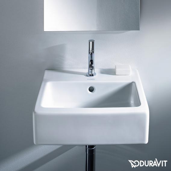 Duravit Vero Handwaschbecken weiß, mit WonderGliss, mit 1 Hahnloch, ungeschliffen, mit Überlauf