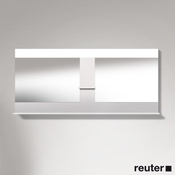 Duravit Vero Spiegel mit LED-Beleuchtung, Ablageflächen unten/mittig weiß hochglanz