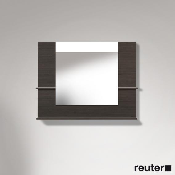 Duravit Vero Spiegel mit LED-Beleuchtung, Ablageflächen unten/seitlich eiche dunkel gebürstet