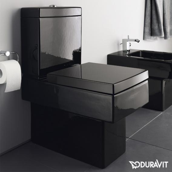 Duravit Vero Stand-Tiefspül-WC für Kombination schwarz, mit WonderGliss