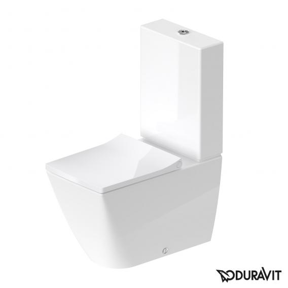 Duravit Viu Stand-Tiefspül-WC Kombination weiß, mit WonderGliss