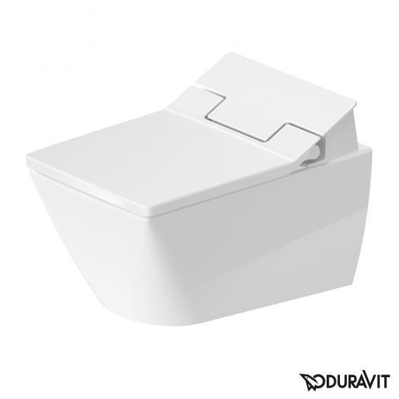 Duravit Viu Wand-Tiefspül-WC Rimless mit SensoWash® Slim WC-Sitz, Set weiß