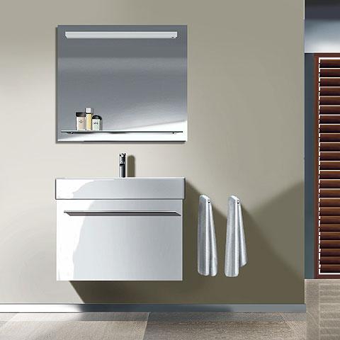 Duravit X-Large Waschtischunterschrank mit 1 Auszug Front weiß hochglanz / Korpus weiß hochglanz