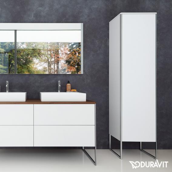 Duravit XSquare Hochschrank mit 1 Tür Front betongrau matt / Korpus betongrau matt