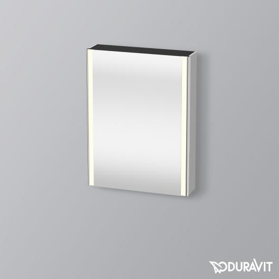 Duravit XSquare Spiegelschrank mit LED-Beleuchtung und 1 Tür Front verspiegelt / Korpus betongrau matt
