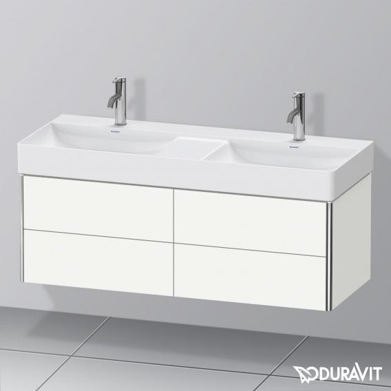 Duravit XSquare Waschtischunterschrank mit 4 Auszügen für Doppelwaschtisch Front weiß seidenmatt / Korpus weiß seidenmatt, ohne Einrichtungssystem